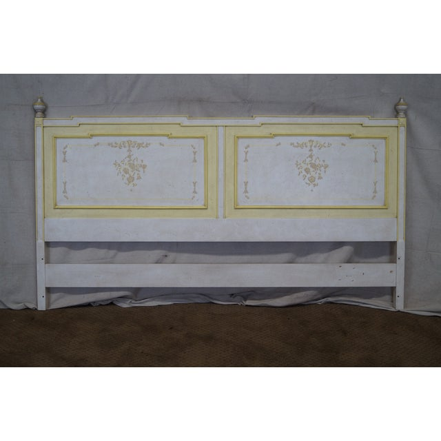 Widdicomb hand painted french style king headboard chairish for Painted on headboard