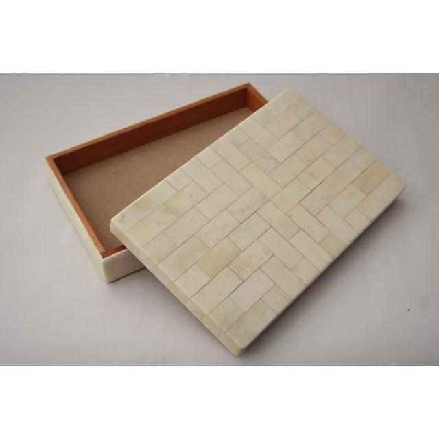 Tessellated Bone Trinket Box - Image 6 of 11