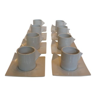 Spin Ceramics Origami Coffee Cups & Saucers - Service for 8