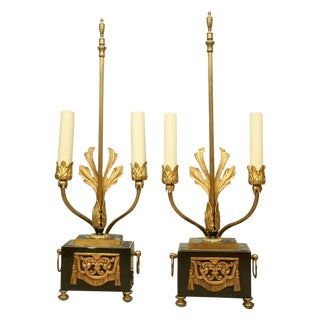 Neoclassical Style Table Lamps - A Pair