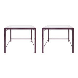 Pair of Purple Occasional Side Tables