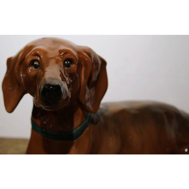 1920s French Faience Dachshund Figure - Image 5 of 10