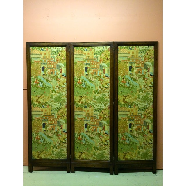 Large Vintage Fabric Room Divider - Image 2 of 6