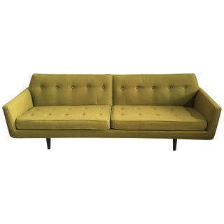 Edward Wormley for Dunbar Green Bracket Sofa