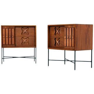 Pair of Mid Century Star Accent Nightstands