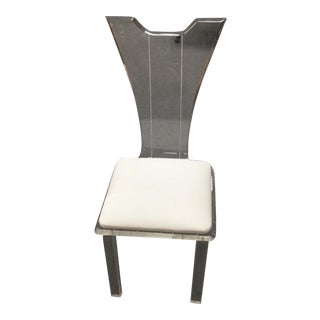 Clear Vintage Italian Lucite Accent Chair