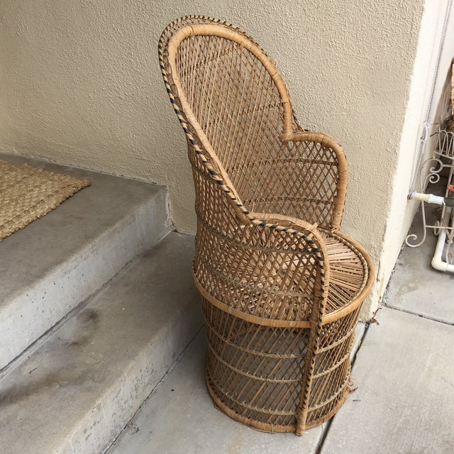 Vintage Boho Chic Wicker Chair - Image 9 of 10