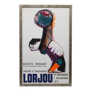 Framed Poster for Bernard Lorjou at Galerie Drouant