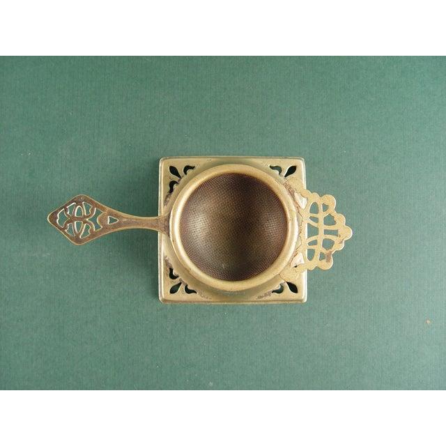 Vintage English Tea Strainer & Stand - Image 3 of 7