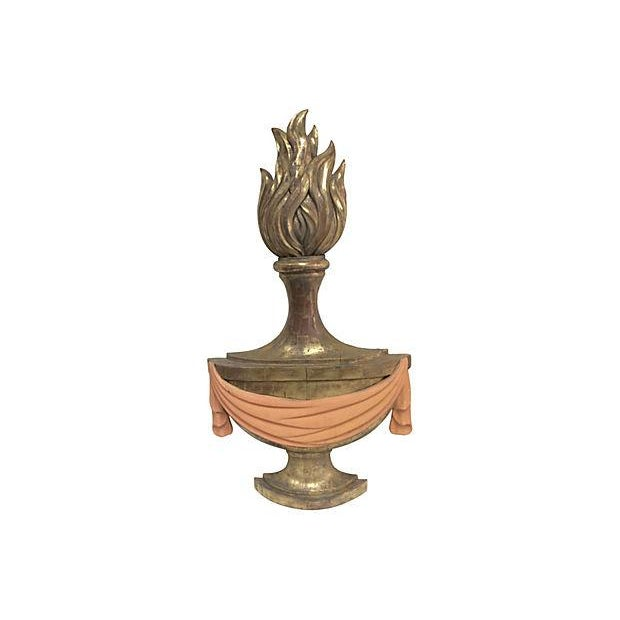 Image of 1940's Carved Torch Plaques - Pair