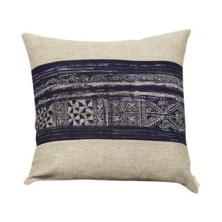 Vintage Indigo Batik Pillow