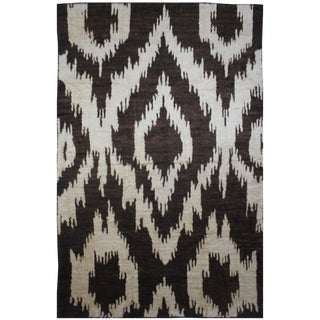 Aara Rugs Hand Knotted Ikat Rug- 10′5″ × 14′1″