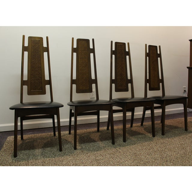 Mid century modern high back dining chairs 4 chairish for Modern high back dining chairs