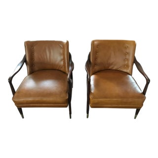 Restored Mid-Century Danish Modern Lounge Chairs - a Pair