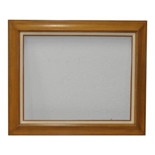 Vintage Wood and Linen Lined Frame c.1970