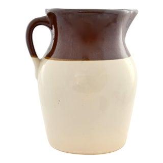 "Rustic Cream to Brown Two-Tone 10"" Farmhouse Jug"