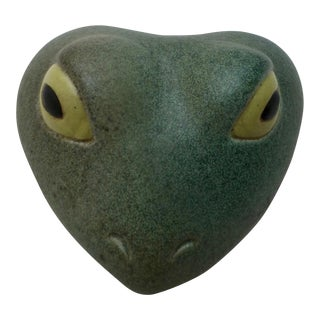 American Studio Pottery Frog Paperweight
