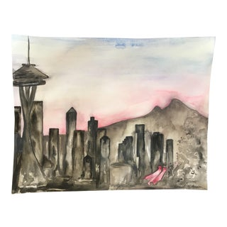 Seattle Original Watercolor Painting