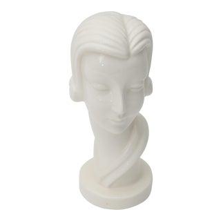 Art Deco Female Bust Figurine