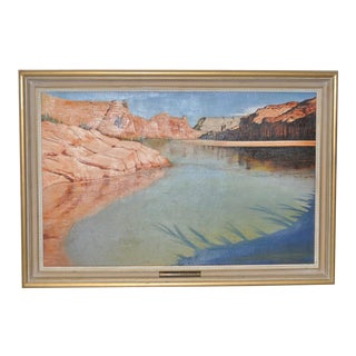 """Colorado River-Glen"" Landscape Painting by Erwin c.1950"