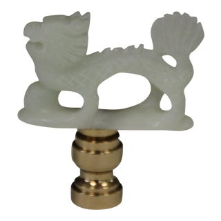 Green Jade Dragon Lamp Finial