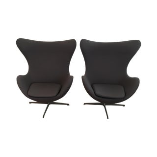 Two Arne Jacobsen Egg Chairs - Pair