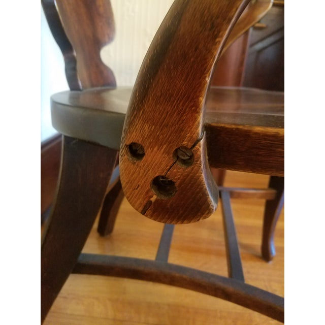 Vintage Restored Wooden Office Chair - Image 5 of 9