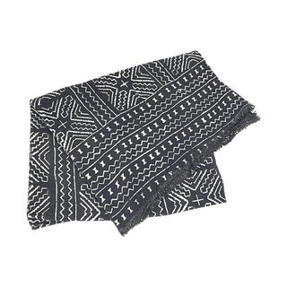 African Black & White Mud Cloth Throw
