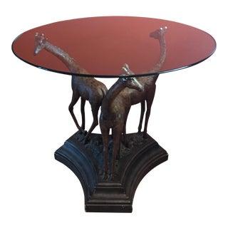 Three Giraffes End Table