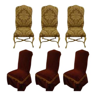 Kreiss Paint Decorated High Back Dining Chairs- Set of 6