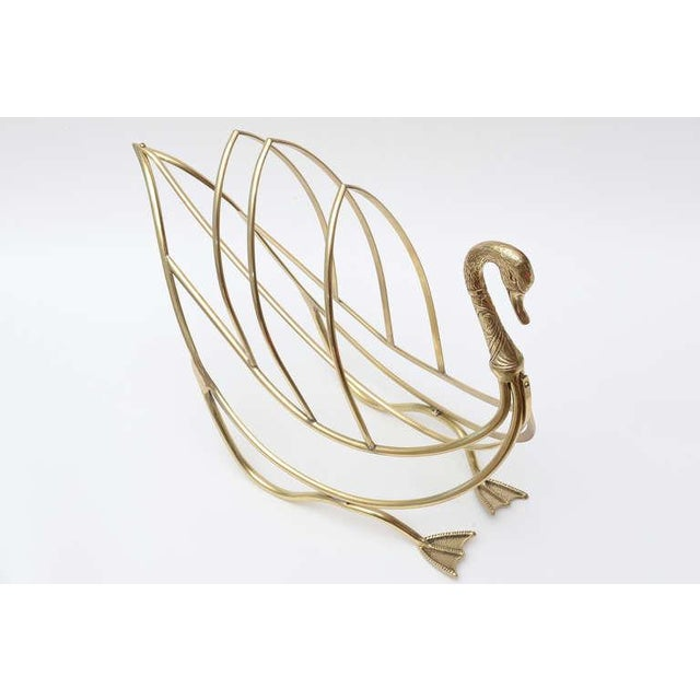 Maison Jansen Polished Brass Magazine or Book Stand or Holder - Image 9 of 10