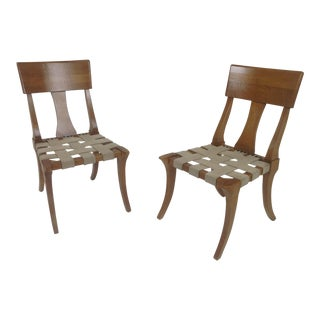 Klismos Style Accent Chairs - A Pair