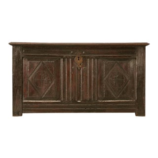 Antique French Carved Two-Panel Coffer