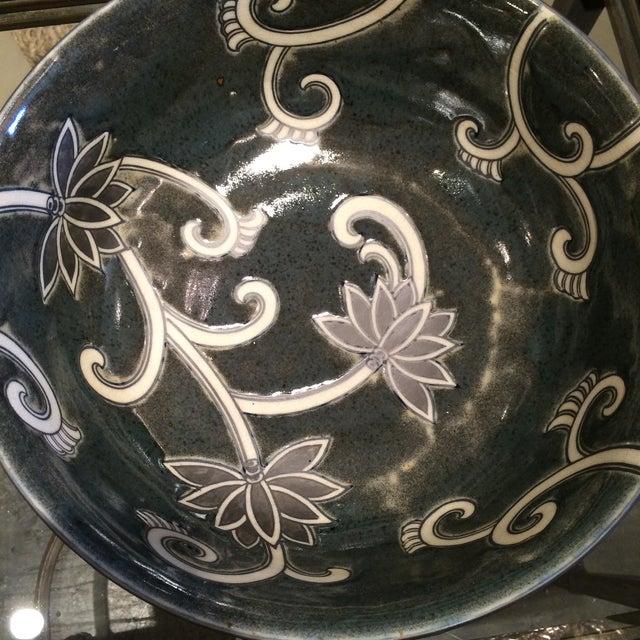 Floral Ceramic Bowl - Image 3 of 5