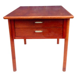 Danish Modern 2-Drawer Side Table