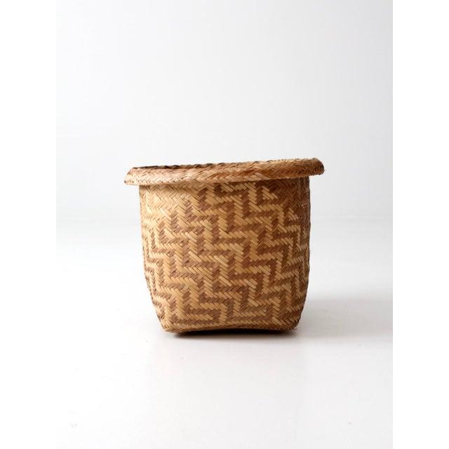 Vintage Indonesian Basket - Image 4 of 9