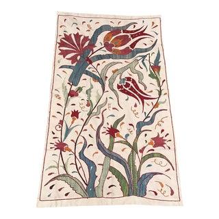 Clove and Tulip Suzani Fabric Handmade Suzani Table Runner