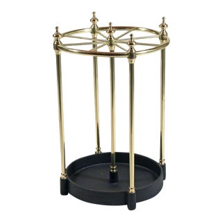 Brass and Iron Umbrella or Stick Stand