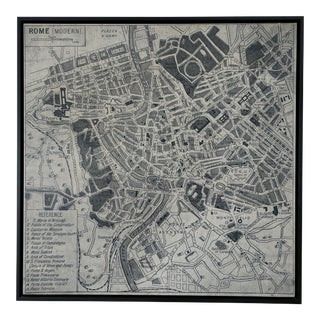 Restoration Hardware Vintage Inspired Aerial Rome Map
