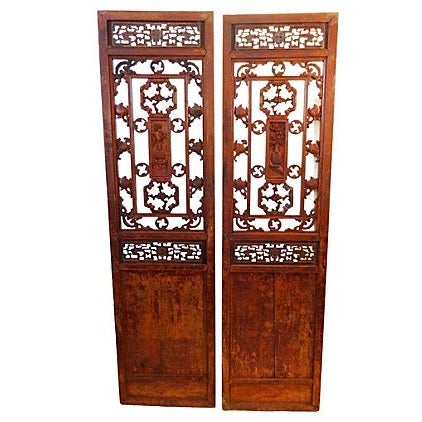 Antique Chinese Doors - A Pair - Image 1 of 8
