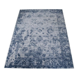 "Distressed Vintage Blue Rug - 5'3"" x 7'7"""