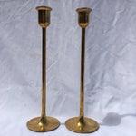 Image of Midcentury Modern Tall Brass Candlesticks