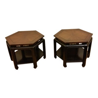 Hollywood Regency Hexagonal End Tables - a Pair