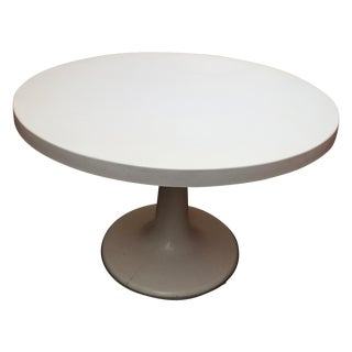 1960s Fiberglass Round Tulip Table