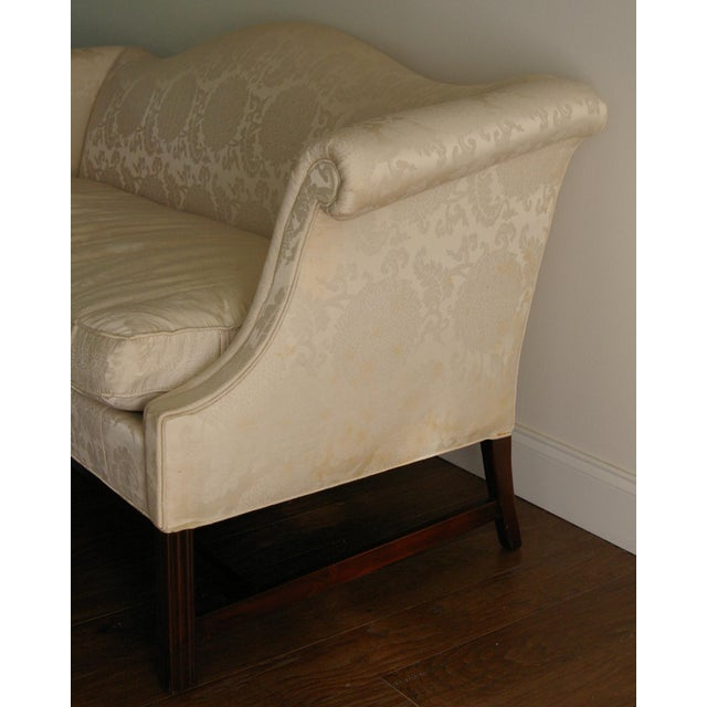 Vintage Hickory Chair Chippendale White Sofa - Image 3 of 8