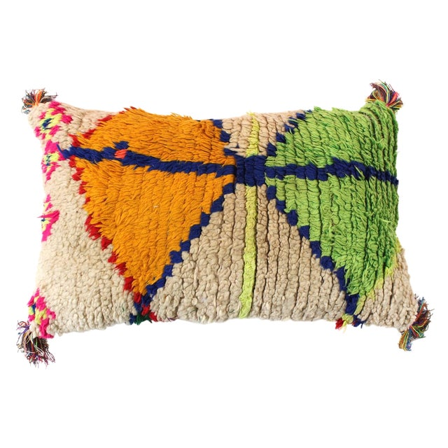 Moroccan Azilal Rug Pillow Cover - Image 1 of 3