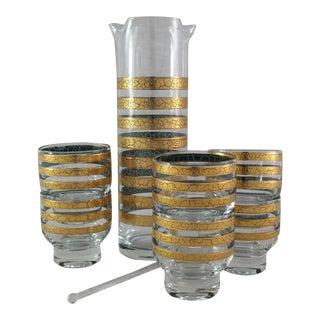 Culver Carafe, Glasses & Stir Stick, 8 Pieces