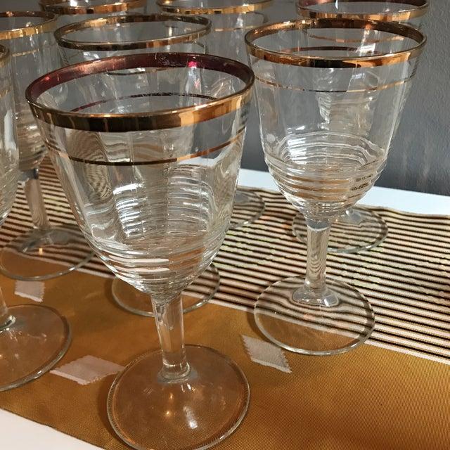 Gold Rimmed Glasses - Set of 8 - Image 6 of 6