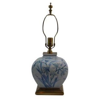 Asian Style Ceramic & Brass Lamp by Wildwood