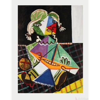 """Pablo Picasso """"Maya With Sail Boat"""" Poster"""